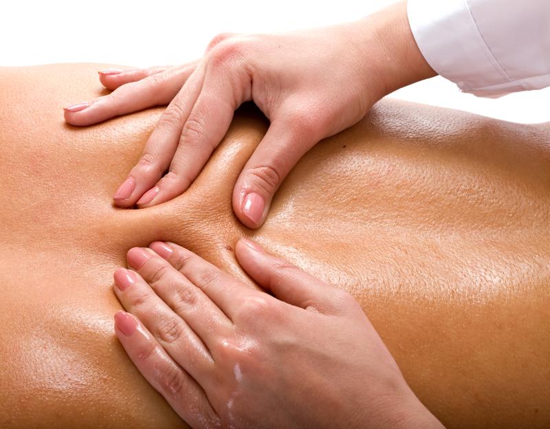 Massage of back. Spa resort.